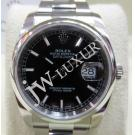 "Rolex 116200 Gents Black Index Dial Auto S/S 36mm ""G-Series"" (With Card + Box)"