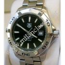 TAG Heuer-Aquaracer Gent Black Guilloche Dial Calibre 5 Auto S/S 42mm (With Box)