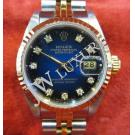 Rolex 69173 Ladies Two Tone Blue Diamond Index Dial Auto 18K/SS 26mm (With Box)