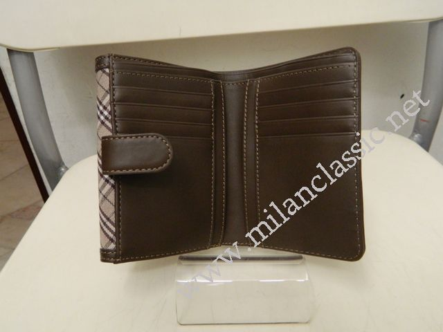 fc8202721838 SOLD - NEW - Burberry Blue Label Canvas Brown Leather Lining Short Wallet