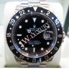 SOLD-Rolex 16710 GMT Master II Black Bezel Auto S/S 40mm (With Box)