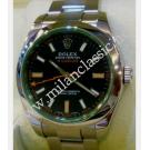 Rolex 116400GV Milgauss Green Sapphire Glass Auto S/S 40mm (With Box + Verify Paper)