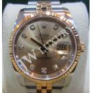 "Rolex 116233 Champagne Diamond Dial 18K/SS Auto 36mm ""G-Series"" (With Card + Box)"