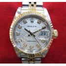 "Rolex 79173 Silver Computerized Dial With Diamonds Auto 18K/SS 26mm ""Y Series"" (With Box)"