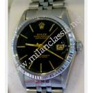 Rolex-16014 Black Index Dial Auto 18K/SS 36mm (With Box + Paper)