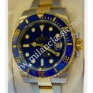 SOLD(已售出)Rolex 116613LB Submariner Blue Dial Ceramic Bezel Auto 18K/SS 40mm (With Box + Card)