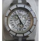 Christian Dior- Crystal Chronograph S/S Quartz 38mm (With Card + Box)