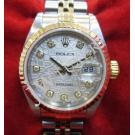 "Rolex 79173 Silver Computerized Dial With Diamonds Auto 18K/SS 26mm ""Y Series"" (With Card + Box)"