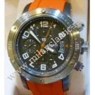 Hermes-Clipper Chrono Grey Dial Auto Titanium/Rubber 44mm (With Box & Paper)