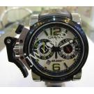 Limited Edition-Graham BRAWN GP Chronofighter Oversize White Dial Auto 47mm(With Crad + Box)