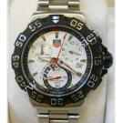 TAG Heuer F1 Chrono Quartz Silver Dial S/S 41mm (With Box)