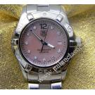 Tag Heuer Aquaracer Ladies Pink M.O.P Dial with Diamond Index S/S 27mm (With Box)