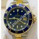 "Rolex-16613 Submariner Blue Dial Auto 18K/SS 40mm ""F-Series"" (With Box)"