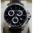 Longines- Conquest Midsize Chrono Black Dial S/S Quartz 35mm (With Card + Box)