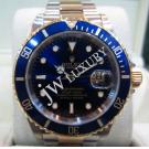 Rolex 16613 Submariner Blue Dial Auto 18K/SS 40mm (With Box + Japan service Paper)