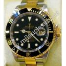"Rolex-16613 Submariner Black Dial Auto 18K/SS 40mm ""F-Series"" (With Box + Service Paper)"