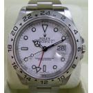Rolex 16570 Explorer II White Dial S/S Auto 40mm (With Paper + Box)