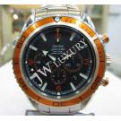 Omega Seamaster Planet Ocean Orange Bezel Chrono Auto S/S 45.5mm (With Box)
