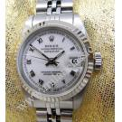 Rolex 69174 Lady White Dial Roman Letter 18K+SS Auto 26mm(With Box)