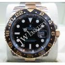 Rolex 116713LN GMT MasterII Black Ceramic Bezel 18K/SS Auto 40mm (With Card + Box)