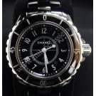 Chanel J12 Chronomatic Boysize Black Ceramic Quartz 33mm (With Card + Box)