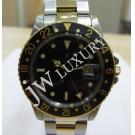 Rolex 16753 GMT Master Black Dial 18K/SS Auto 40mm (With Box )