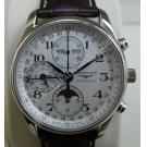 NEW - Longines Master Collection Chrono Moonphase S/S Auto 40mm (With Card + Box)