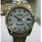Rolex 68273 Boysize White Dial With Diamond 18K+SS Auto 30mm (With Card + Box)