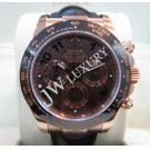 Rolex Daytona 116515LN 750 Solid Rose Gold Chocolate Dial Ceramic Bezel Auto 40mm (With Card + Box)