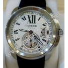 Cartier Calibre De Cartier Silver Dial Auto Steel/Leather 42mm ( With Box )