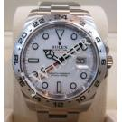 NEW(全新品)-Rolex 216570 Explorer II White Dial S/S Auto 42mm (With Card + Box)
