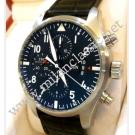IWC-Pilot's Chrono Black Dial Auto Steel/Leather 43mm (With Box + Paper)