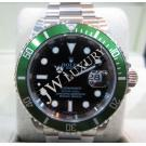 "Rolex 16610LV 50th Anniversary Submariner Green Bezel Auto S/S 40mm ""Z-Series"" (With Card + Box)"