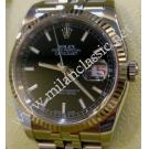 "Rolex 116234 Gents Black Index Dial Auto 18K/SS 36mm ""D-Series""(With Box + Paper)"
