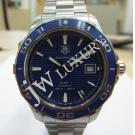 Tag Heuer Aquaracer Calibre 5 Blue Dial Ceramic Bezel S/S Auto 41mm(With Card + Box)