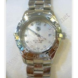 TAG Heuer Aquaracer Ladies Quartz White M.O.P with Diamonds Index S/S 27mm (With Box)