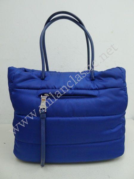 dcf5c5cbc3ac SOLD-Prada-Cornflower Blue Bomber-effect fabric Tote Bag NEW YEAR ...