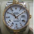 Rolex 16233 White Dial Roman Letter With Diamond Index 18K/SS Auto 36mm (With Box)