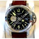 SOLD - Panerai Luminor GMT Steel/Leather Auto 44mm PAM00088 ( With Card + Box )