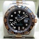 Rolex 116713LN GMT Master II Black Ceramic Bezel 18K/SS Auto 40mm (With Paper + Box)