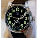NEW- Ball-Engineer Master II Officer Black Dial Hand Wind Steel/Leather 46mm (With Box + Card)