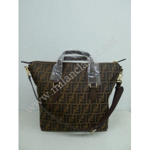 NEW - Fendi Brown Canvas Zipped Hand/Crossbody Bag