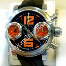 RESERVED WITH DEPOSIT-Graham Swordfish Chrono Black Dial Orange Numeral Auto Steel/Rubber 44mm (With Box + Card)
