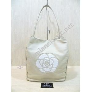 SOLD-Chanel Beige Lambskin Shoulder Tote