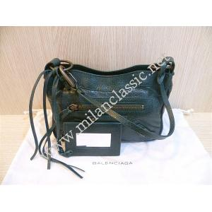 NEW - Balenciaga Classic Hip Green Lambskin Small Clutch