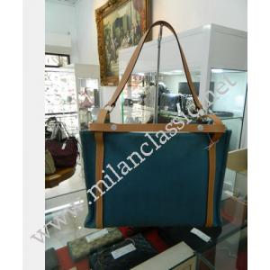 "Hermes Cabalicol Canvas Shoulder Bag ""Q Stamp""-025124"