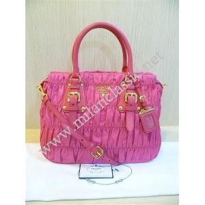 NEW - Prada Pink Nylon Gaufre With Zip