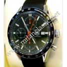 TAG Heuer Carrera Calibre 16 Chrono Black Dial Auto Steel/Rubber 42mm (With Box + Card)