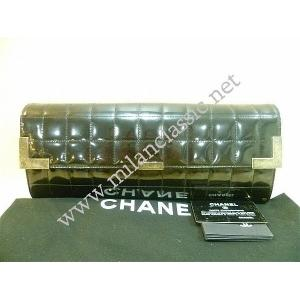 Chanel Black/Mustard(Side) Patent Leather Hand-heldClutch
