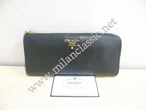 f6f30a5bd0a8 RESERVED WITH DEPOSIT-Prada-Black Saffiano Zipped Long Wallet (NETT ...